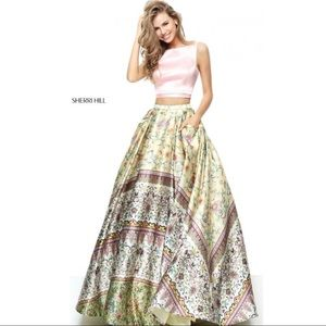 Sherri Hill Floral Two-Piece Dress Style #50924